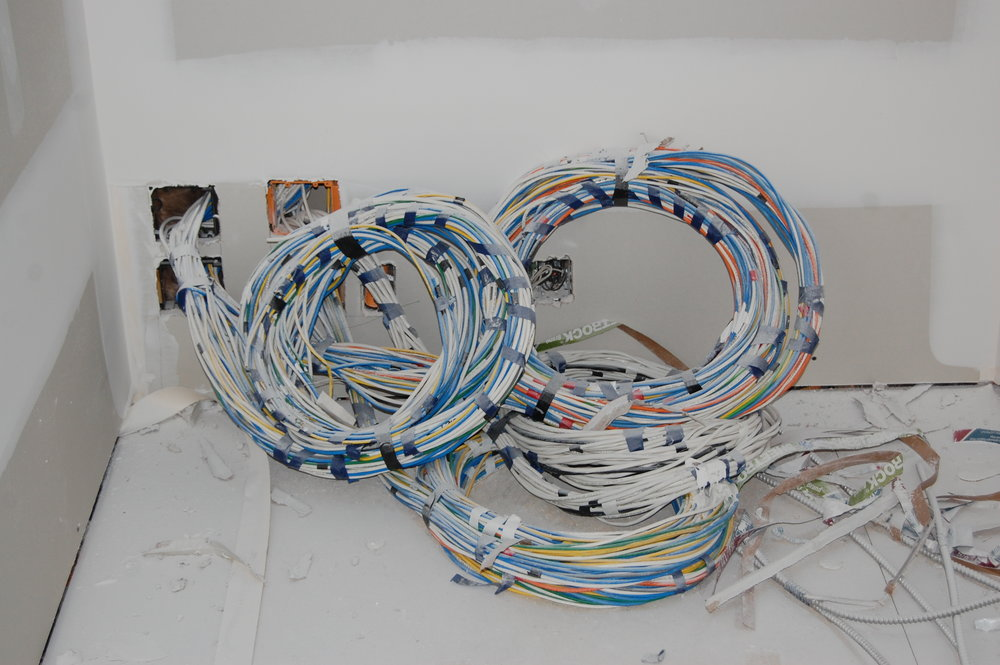 Nope! A mile of wires for all the electronics