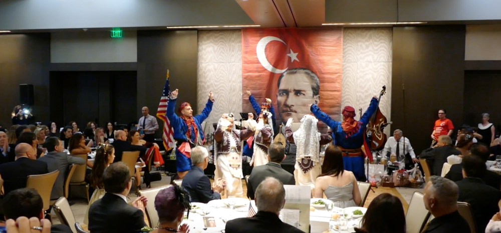 Berkeley Turkish School Dance Team performing Harmandali Dance at the 95th Anniversary of the Turkish Republic Gala organized by TAAC at Four Seasons Palo Alto.
