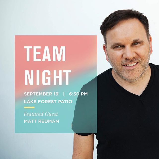 Lake Forest Team!! This one's for YOU! Can't wait to see you tonight at 6:30 for some food, fun, and inspiration. . For an upcoming TEAM NIGHT near you, check the link in our bio!