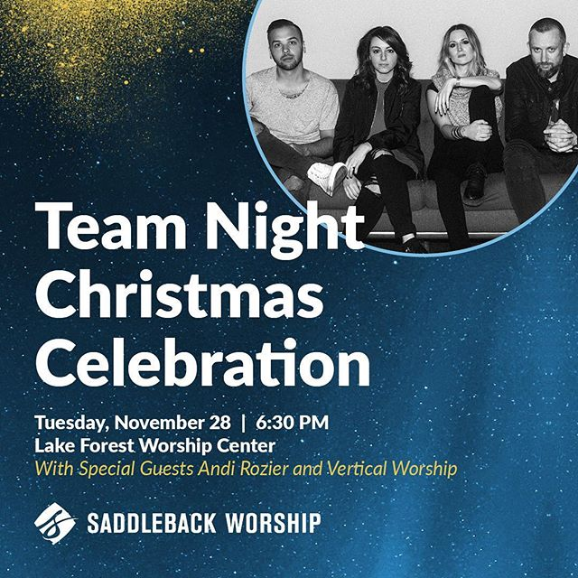 TONIGHT! TEAM NIGHT! Can't wait to see you and celebrate all the good things God has done in this season. 🙌