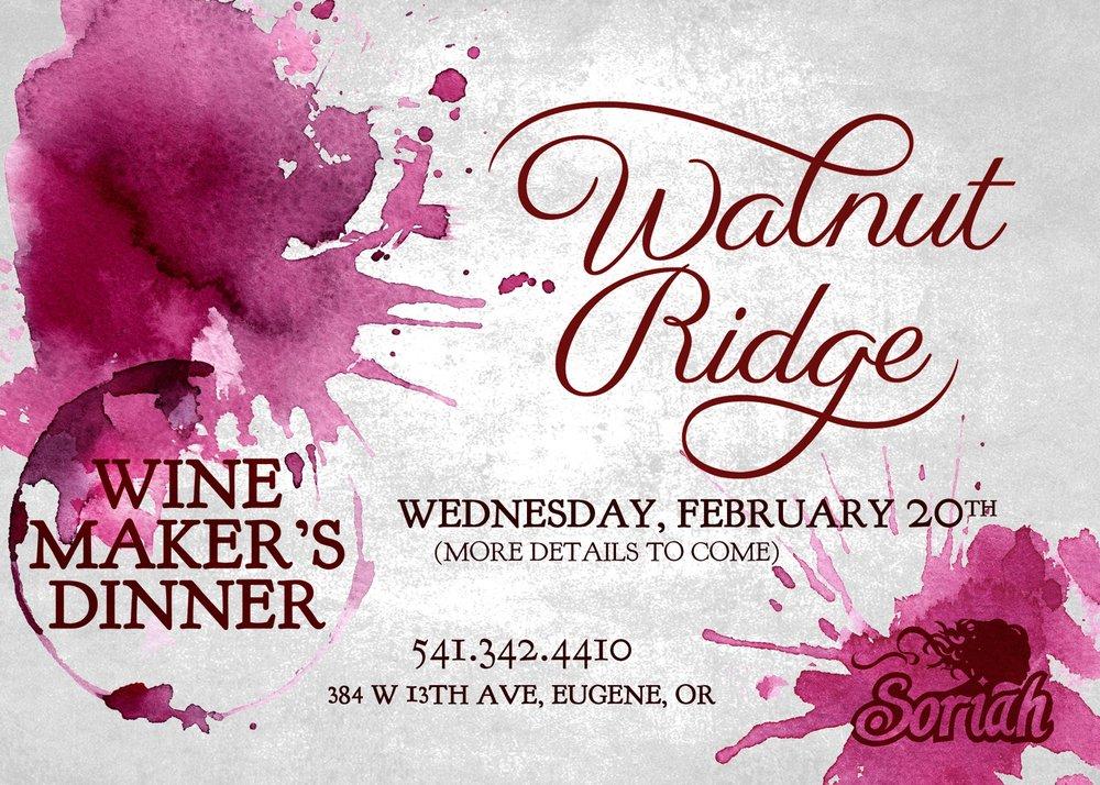 Feb Wine Makers Dinner