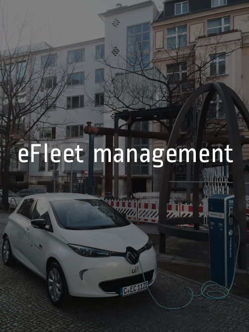 Manage and optimize cross-fleet use of electric vehicles for municipal, public and corporate fleets. Fleet usage is optimized for economic efficiency in total cost of ownership. This includes route planning, real time monitoring of charging status and operational data and a mobile app to book the vehicle.