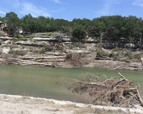 Damage along the Blanco River, Memorial Day 2016
