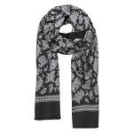 FORZIERI Reversible Paisley Print Wool and Silk Long