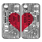 Hearts, Valentines Day Gift. Two iPhone 4 : 4s cases, iPhone 4 : 4s covers