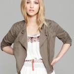 Free People Jacket Linen Cutwork Moto