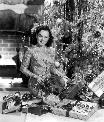 1950s xmas Paulette Goddard