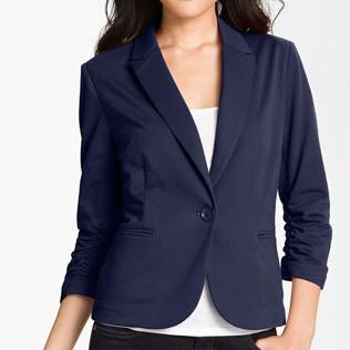 nordstrom Olivia Moon Ruched Sleeve Jacket