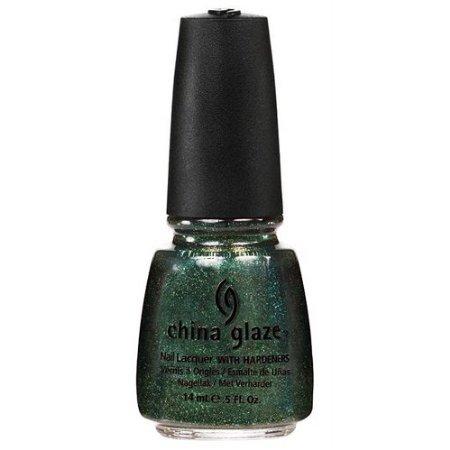 emerald green glitter nail polish