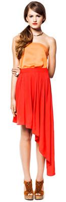 assemtric skirt