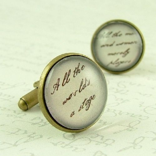 ALL THE WORLD'S A STAGE - SHAKESPEARE CUFFLINKS