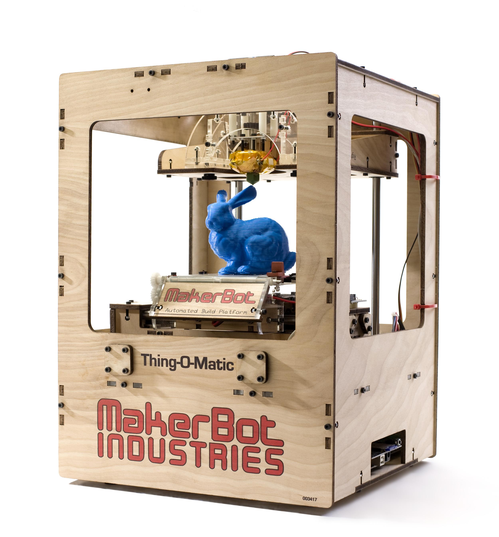 Makerbot_Thing-O-Matic_Assembled_Printing_Blue_Rabbit