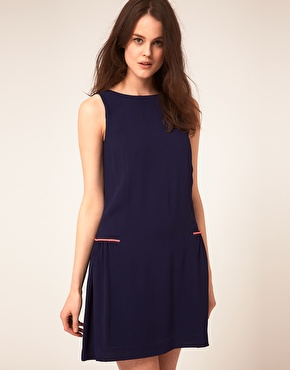 Boutique By Jaeger Gathered Back Shift Dress