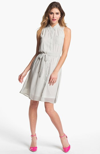 PRESS Sleeveless Shirtdress