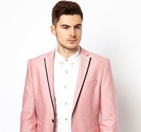 Selected Blazer With Trim Detail
