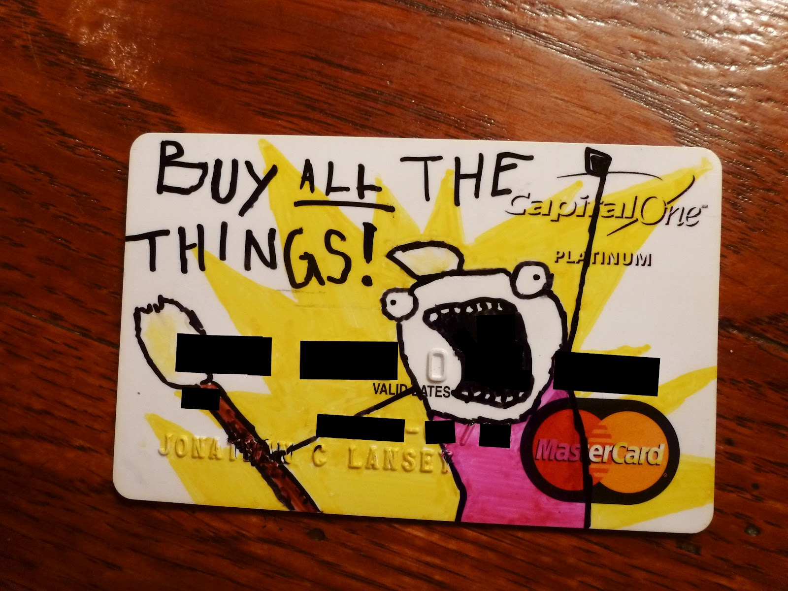 buy all the things credit card