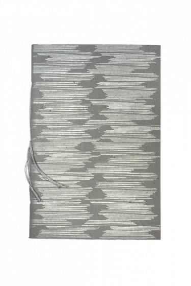 grey shimmer wood journal