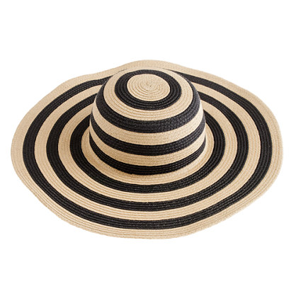 j crew SUMMER STRAW HAT IN STRIPE