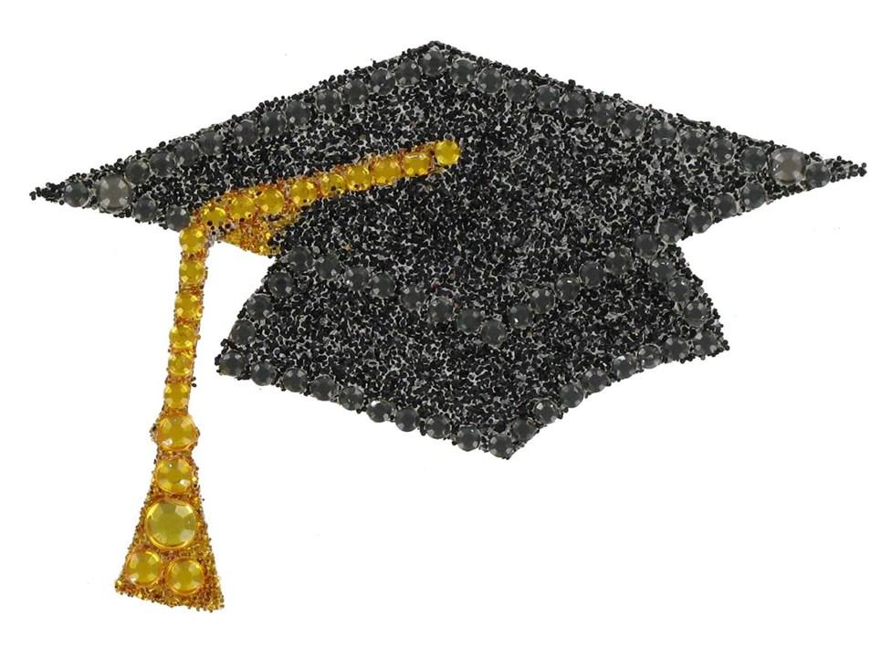 bling graduation cap