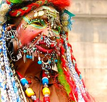 Elaine Davidson, the world's most pierced woman.