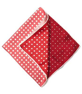 paul stuart Silk Color Block Dots Pocket Square