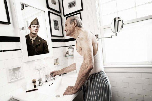 elderly reflections