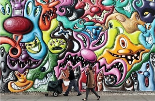 graffiti wall r