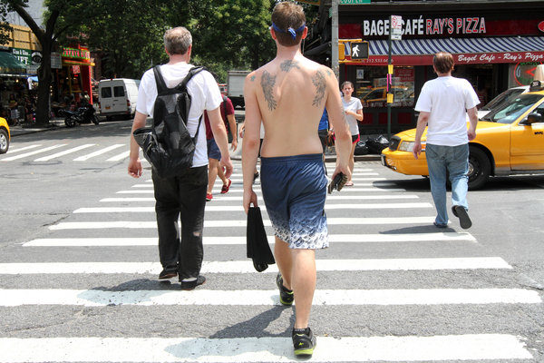 shirtless new yorkers