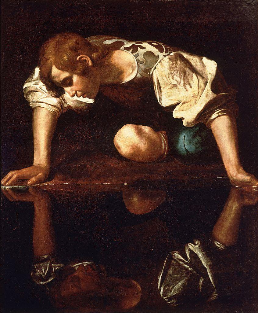 846px-Narcissus-Caravaggio_(1594-96)