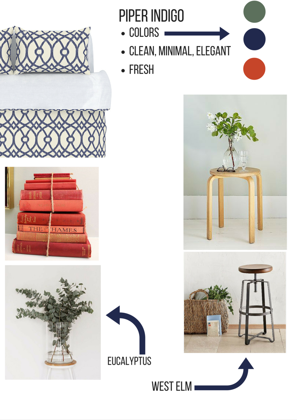 mood board for colorfly home