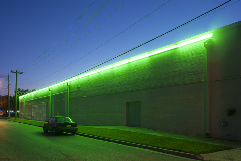 Outside of the permanent Flavin exhibit