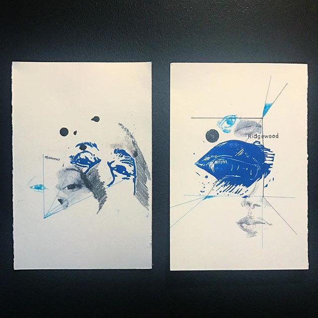 lino print, photo transfer, marker, graphite, ink, self doubt