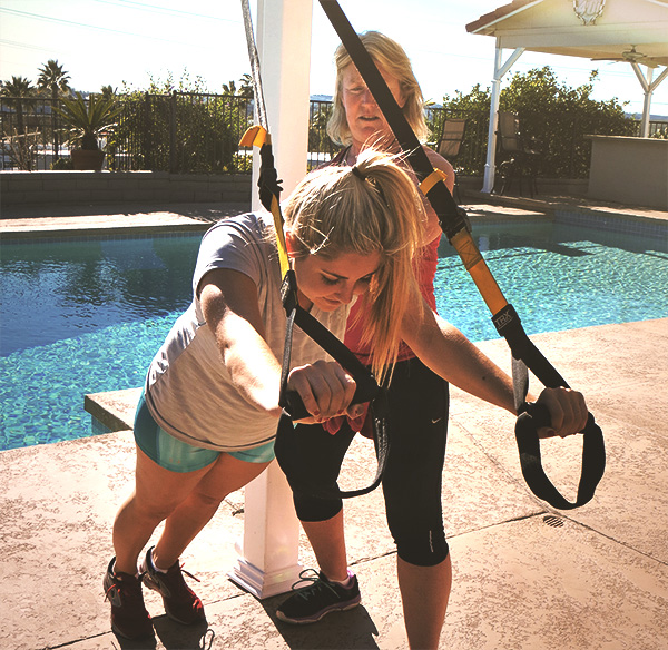 Mo Langley, Personal Trainer:  TRX suspension training