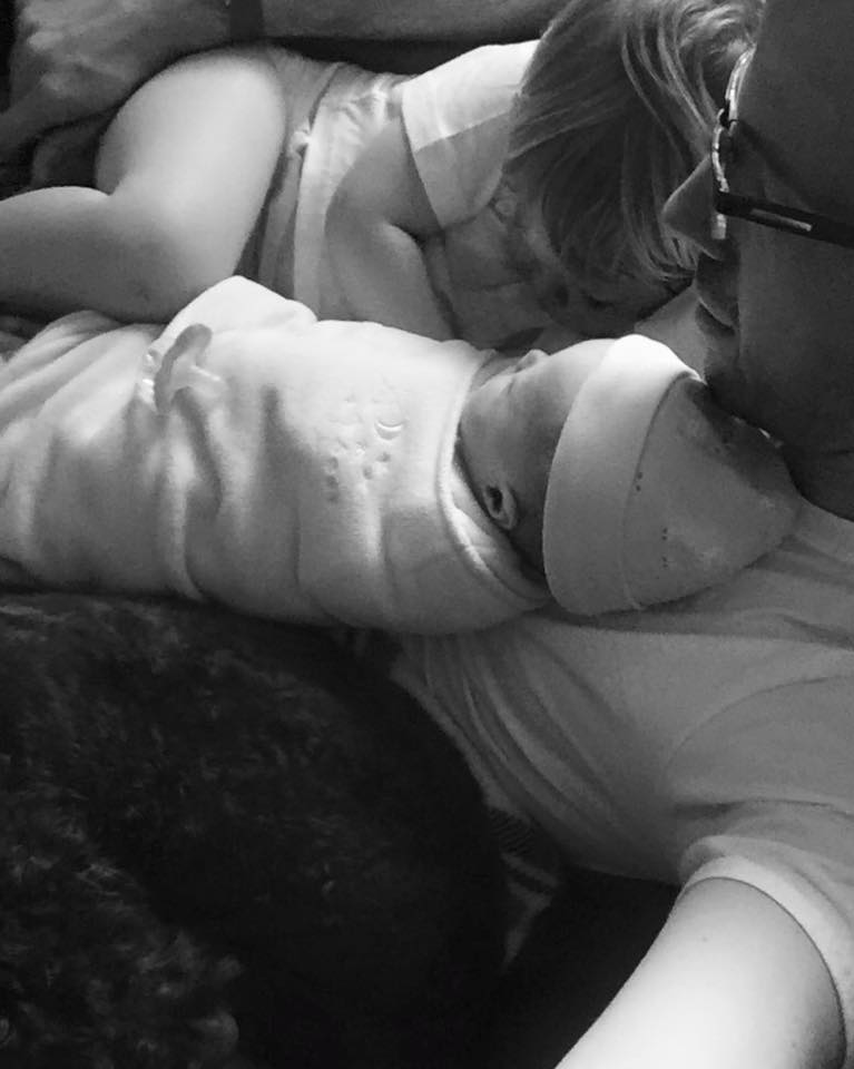My son, my cockapoo, and one of my twin girls, Quinn, all taking an epic nap on me. Just about a week later after this was taken, Quinn had to be rushed to the hospital. You have to soak in the good moments because you don't know when things might change.