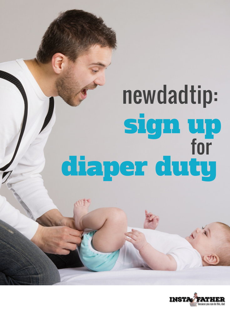 If you're a new dad, I strongly urge you to get in on that diaper changing action. Trump's wrong: Moms are not an excuse to avoid changing a diaper!