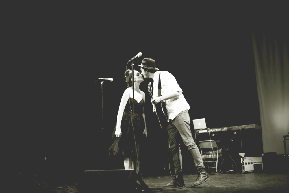 Matt & Missy, husband and wife singer/songwriter duo performing at the Angelic Concert.