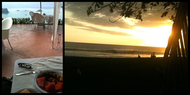 Desayuno y sueño, Manuel Antonio y Playa Hermosa, Costa Rica