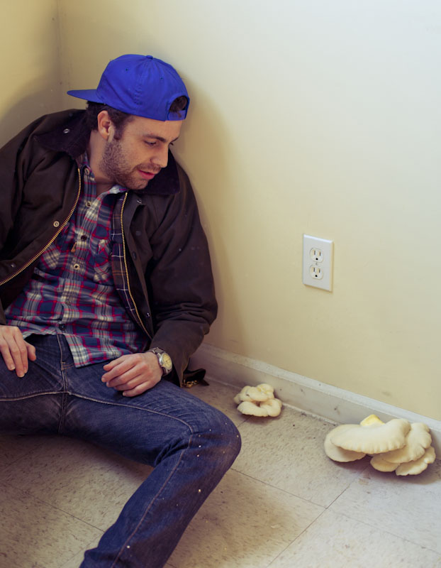 …but he had mushrooms growing in his kitchen…