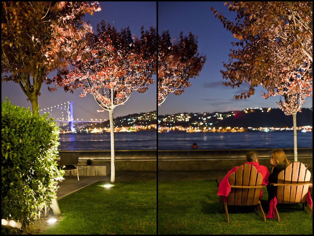 The Bosphorus, outside my window earlier tonight