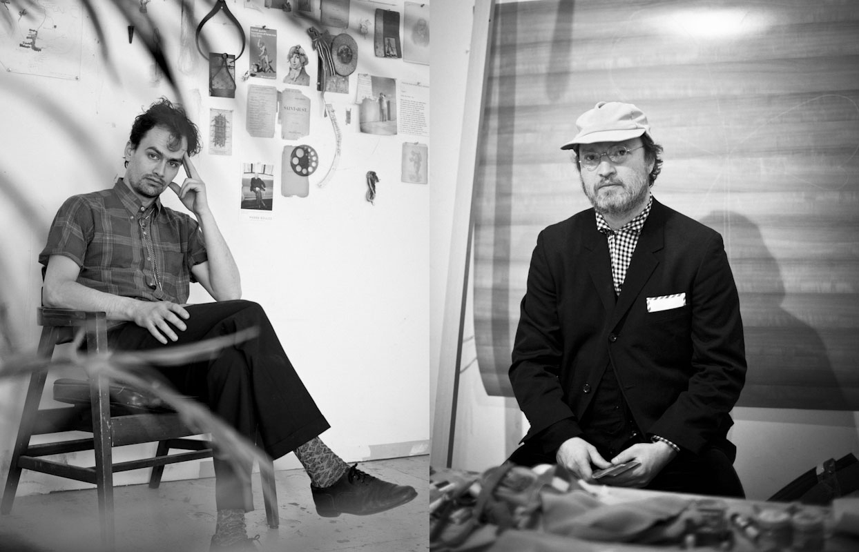 Artists Matthew Gribbon and Steven Thompson of the Green and Bold Cooperative in their studios