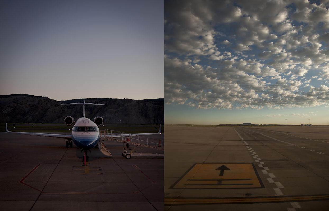 Eagle and Denver Airports earlier this morning