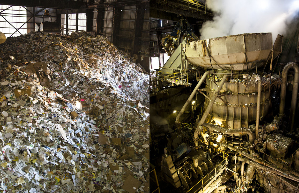 Recycling paper at Pratt Industries, Staten Island
