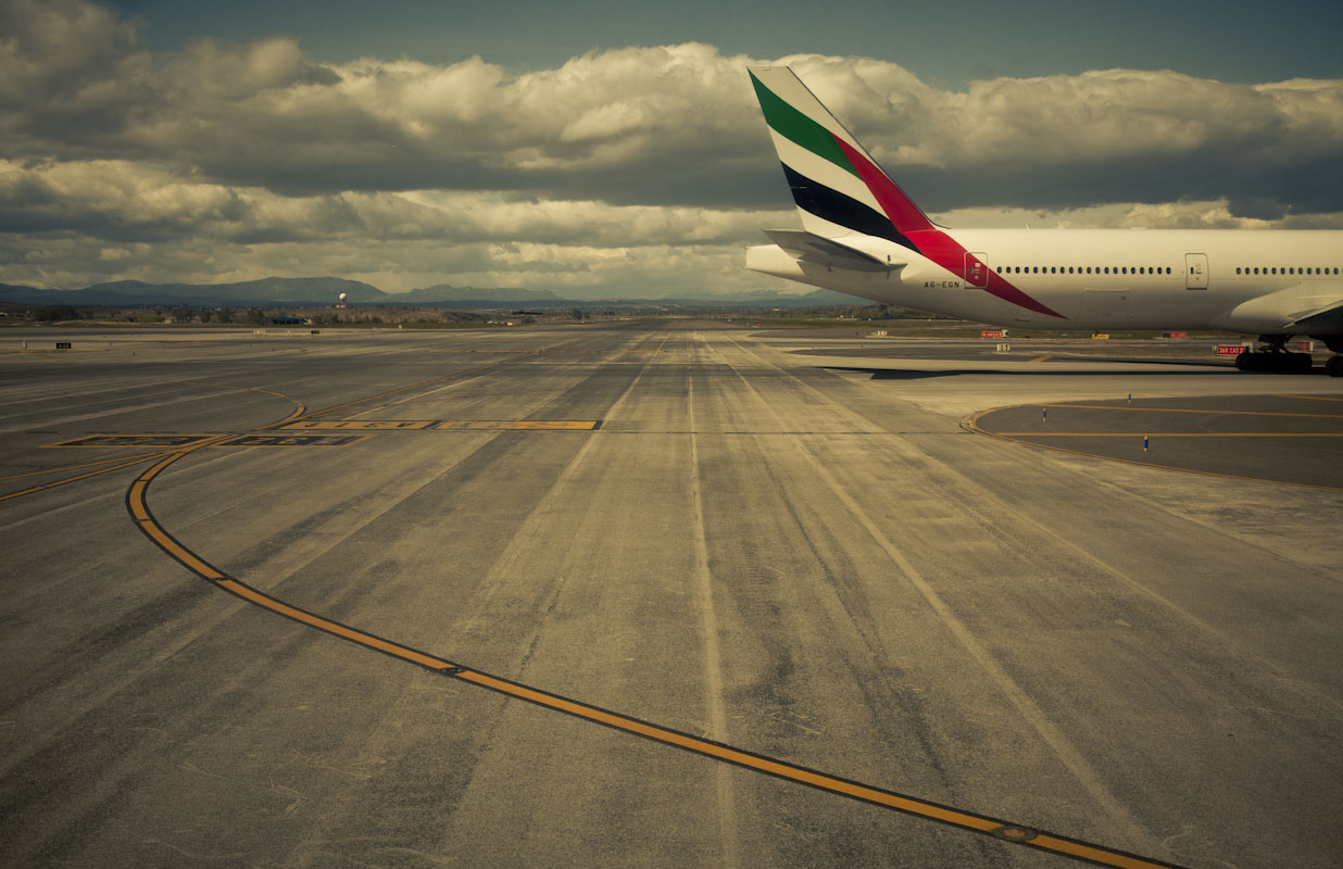 Emirates Airlines tail at Mardid-Barajas Airport