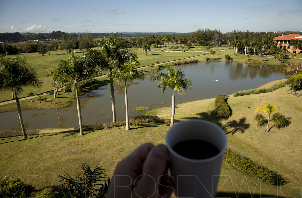 Coffee with a view   Room PH408, Puerto Rico