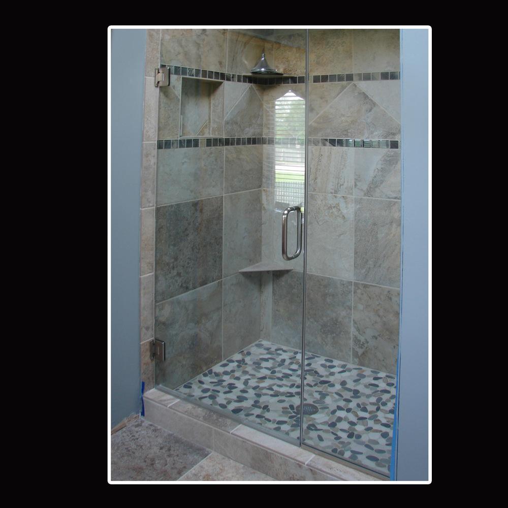 Elite Glass Heavy Shower Door \u0026 Panel 3.jpg & Heavy Glass Door \u0026 Panel Shower Doors \u2014 Elite Glass Services