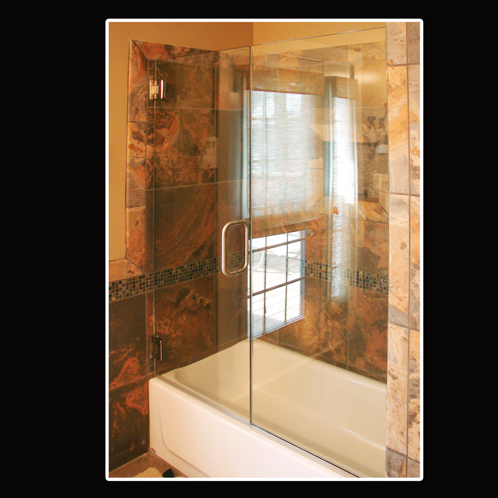 Elite Glass Heavy Shower Door \u0026 Panel 4.jpg & Heavy Glass Door \u0026 Panel Shower Doors \u2014 Elite Glass Services