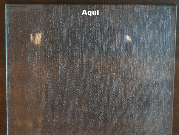 shower door glass samples
