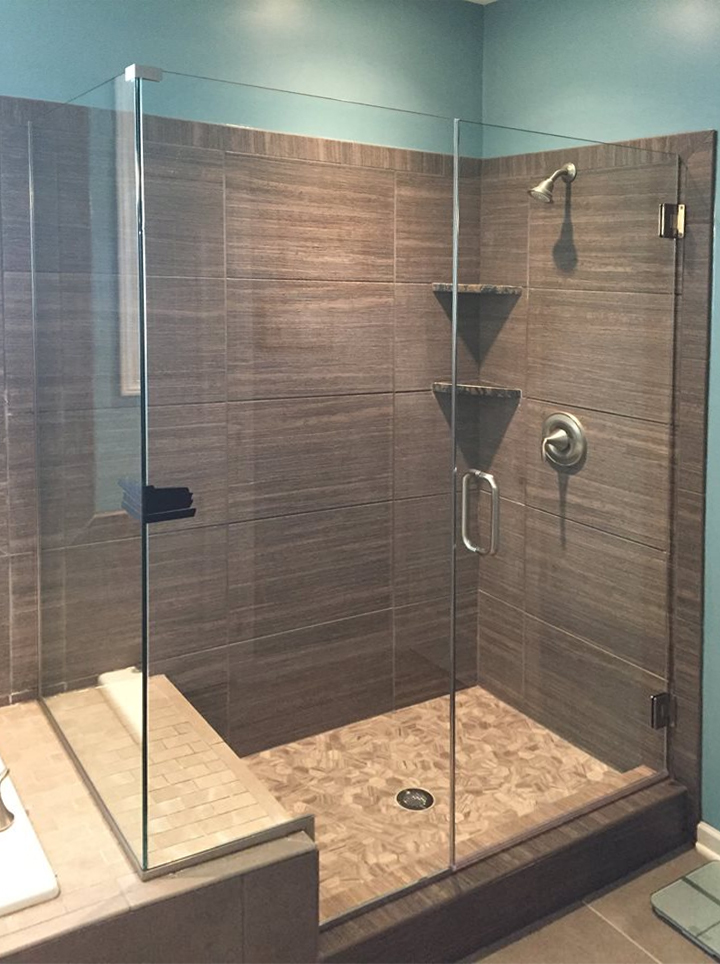 glass shower doors elite glass services. Black Bedroom Furniture Sets. Home Design Ideas