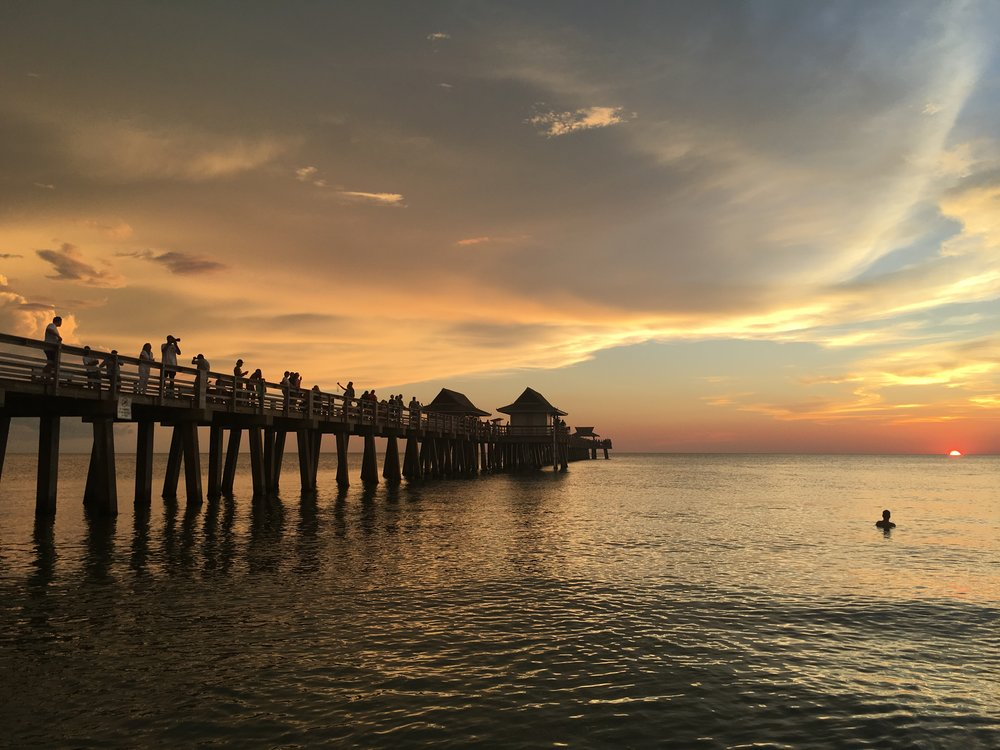Naples Pier sunset. A perfect place to play?