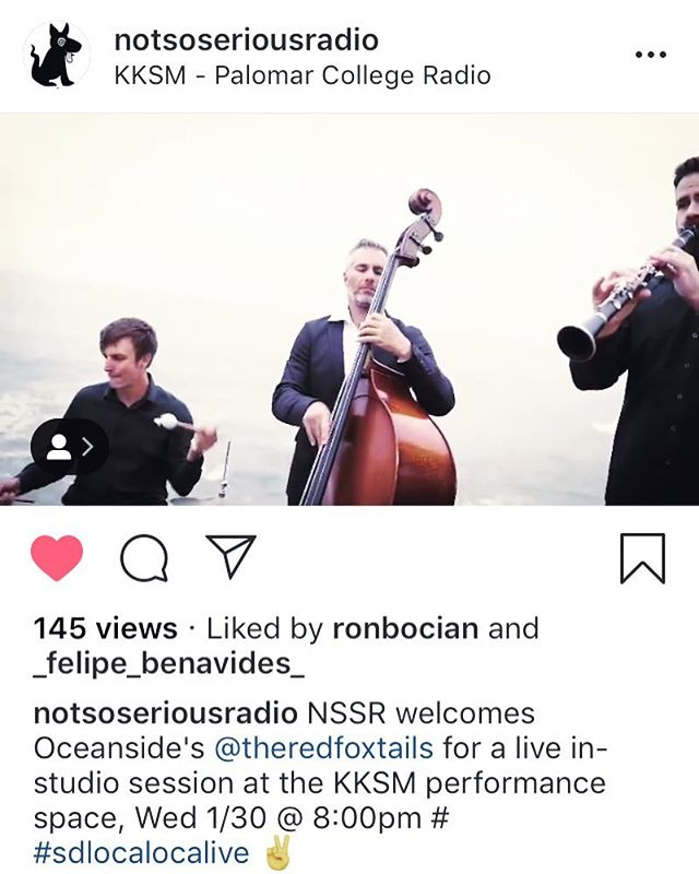 This Wednesday @notsoseriousradio @kksmradio @palomarcollege tune in, 8pm PST #sandiego #originalmusic #collegeradio